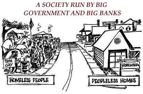 La sociedad en manos de estados y bancos grandes