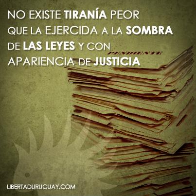 Leyes y tiranía