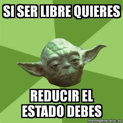 Un consejo libertario del maestro Yoda